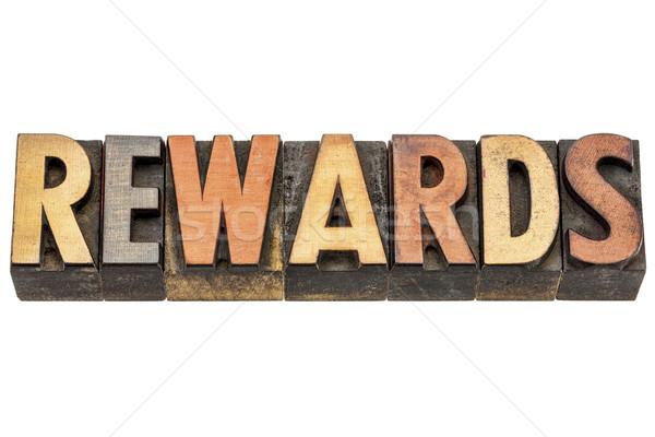 rewards word in wood type Stock photo © PixelsAway
