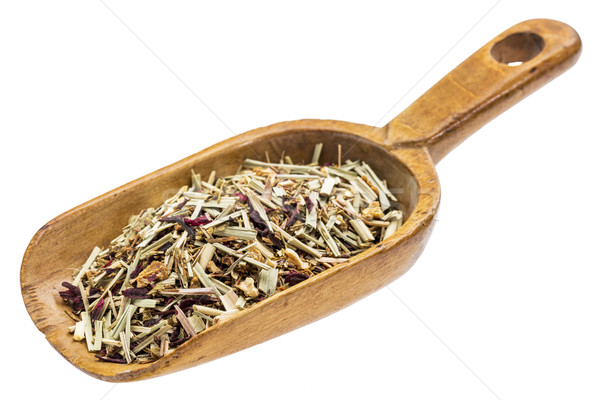 rustic scoop of lemon grass herbal tea Stock photo © PixelsAway