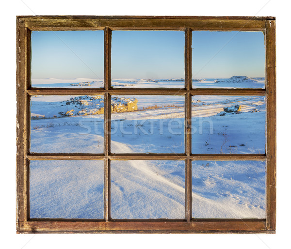 Colorado prairie abstract landschap winter landschap Stockfoto © PixelsAway