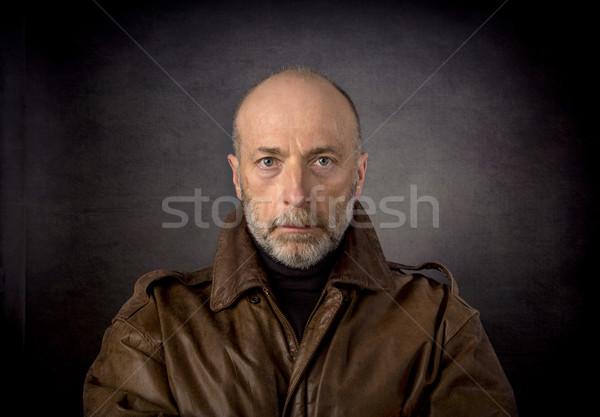 headshot of man in leather jacket Stock photo © PixelsAway