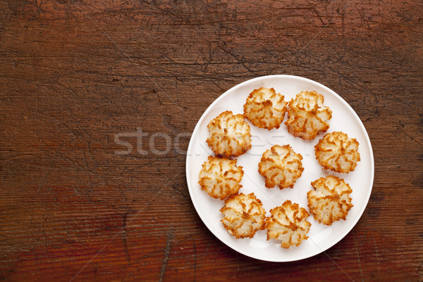 coconut macaroon cookies Stock photo © PixelsAway