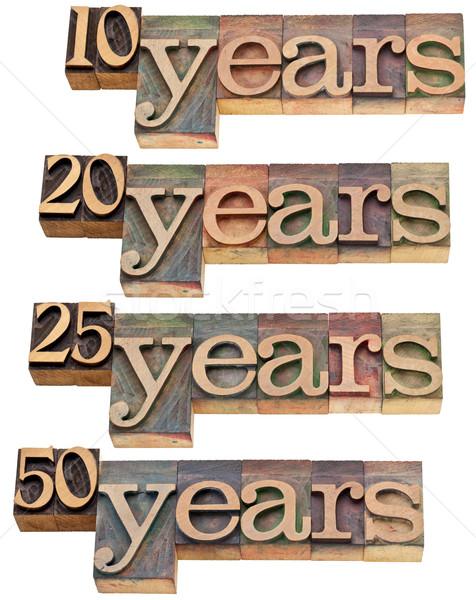 anniversary - 10, 20 ,25, 50 years Stock photo © PixelsAway