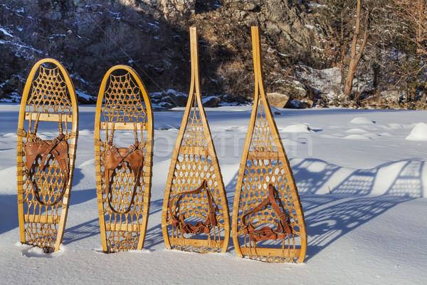 vintage snowshoes Stock photo © PixelsAway