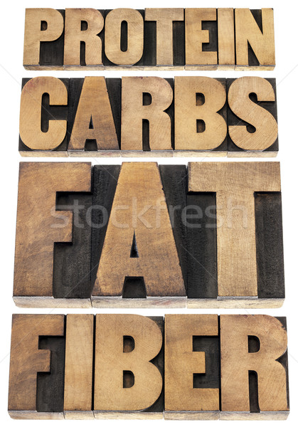protein, carbs, fat, fiber Stock photo © PixelsAway
