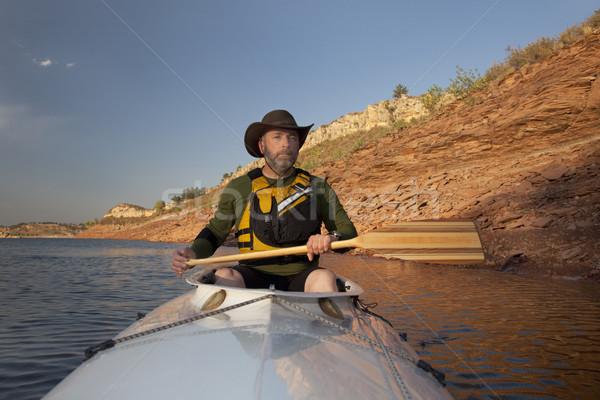 canoe paddling in Colorado Stock photo © PixelsAway