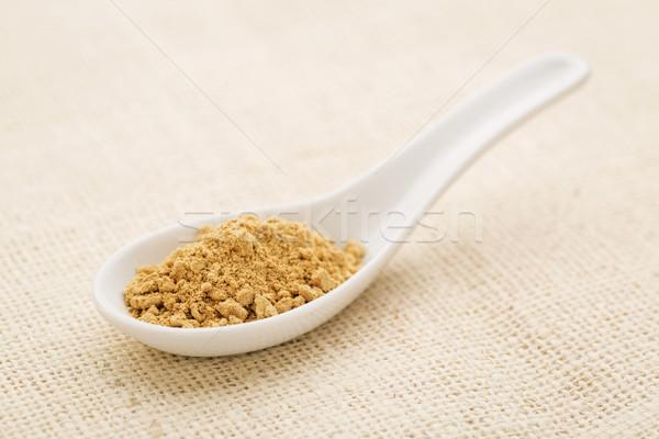 Zenzero radice polvere bianco cinese cucchiaio Foto d'archivio © PixelsAway
