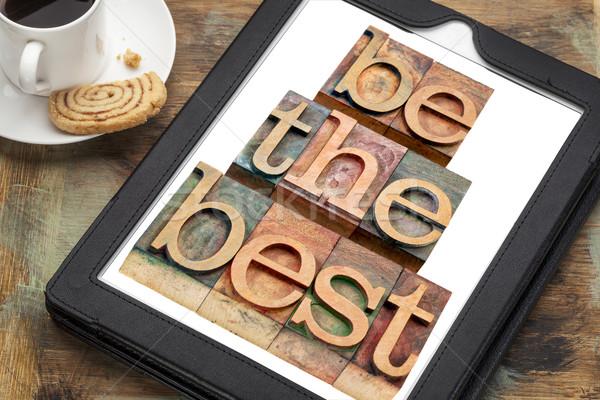 Meilleur comprimé texte numérique tasse Photo stock © PixelsAway