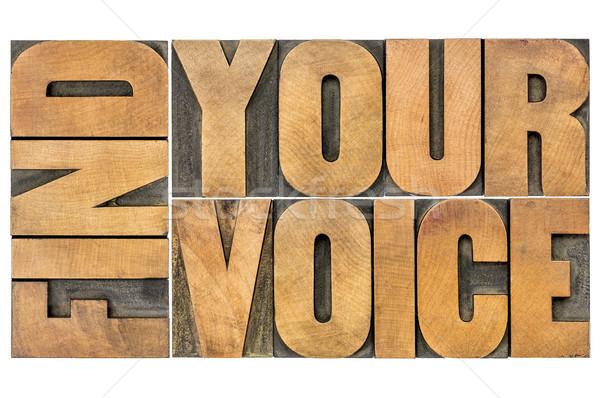 Trovare voce creatività isolato parola abstract Foto d'archivio © PixelsAway
