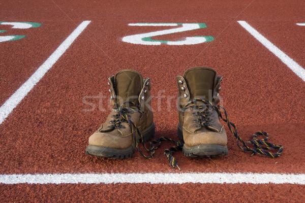 Téves cipők fut nehéz kirándulás csizma Stock fotó © PixelsAway