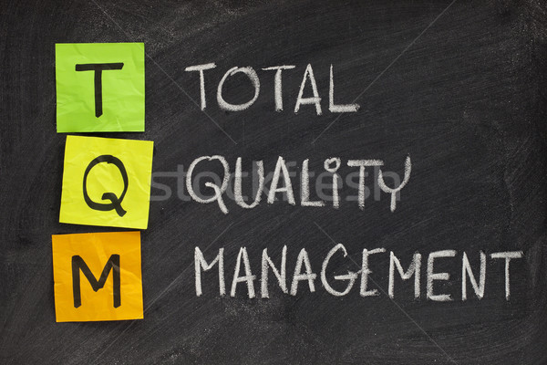 Kwaliteit beheer acroniem witte krijt handschrift Stockfoto © PixelsAway