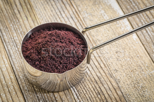 scoop of acai berry powder Stock photo © PixelsAway