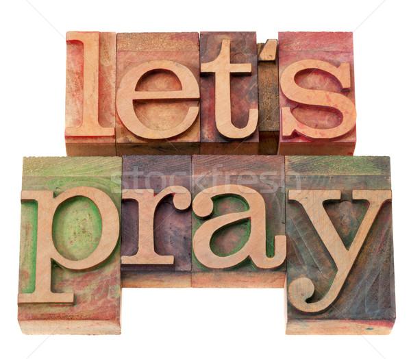 Modlić typu duchowe wyrażenie vintage Zdjęcia stock © PixelsAway