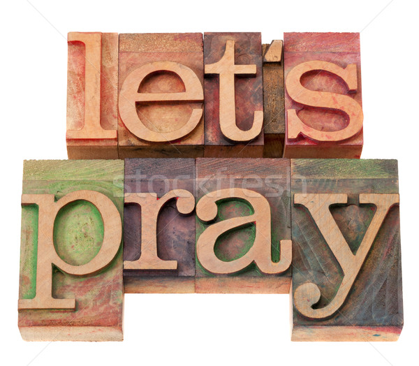 Pregare tipo spirituale vintage Foto d'archivio © PixelsAway