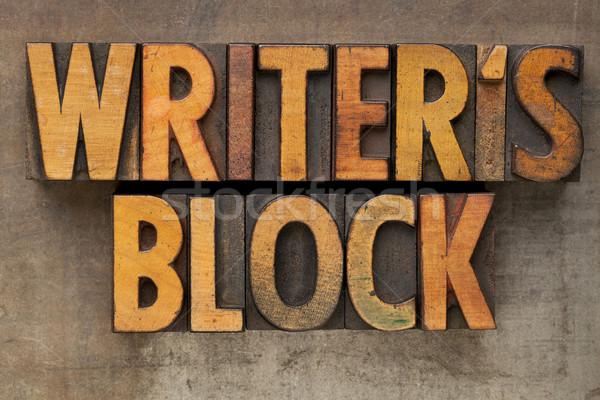 writer block in letterpress type Stock photo © PixelsAway