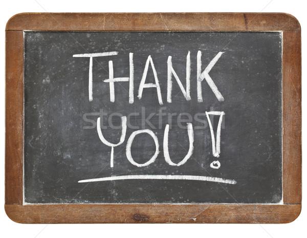 thank you on blackboard Stock photo © PixelsAway