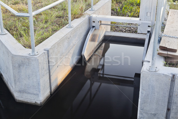 irrigation ditch gate Stock photo © PixelsAway