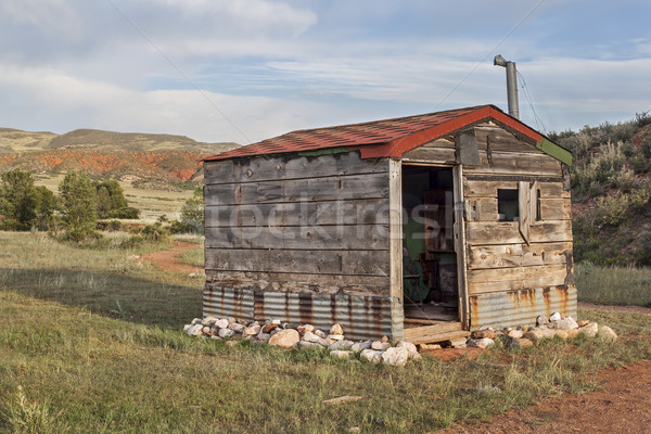 old cabin in Rocky Mountains Stock photo © PixelsAway