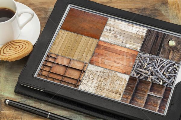 Textura de madeira digital comprimido fotos estilete Foto stock © PixelsAway