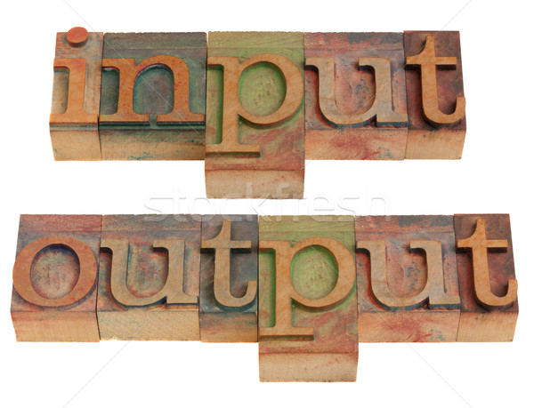 Stock photo: input and output