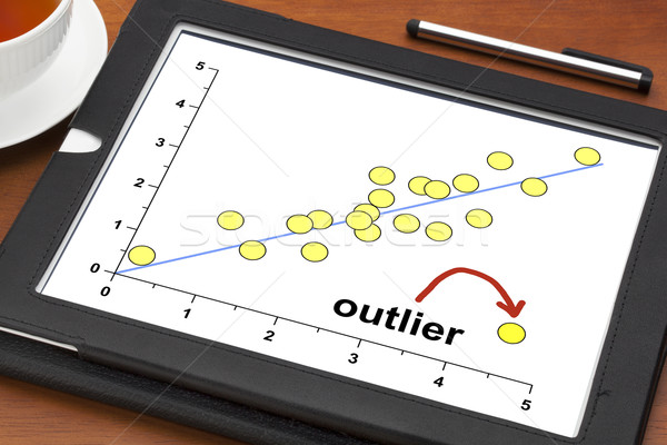 outlier concept on a digital tablet Stock photo © PixelsAway