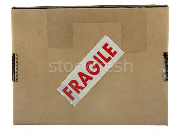 хрупкий пакет небольшой окна красный Label Сток-фото © PixelsAway