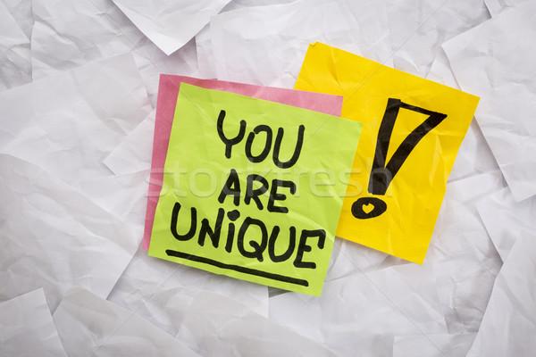 you are unique reminder Stock photo © PixelsAway