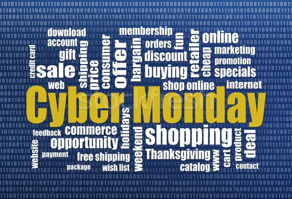 Cyber Monday shopping Stock photo © PixelsAway