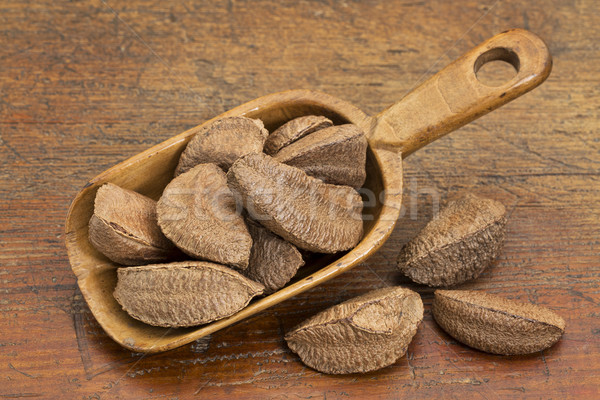 Brazilian nuts in rustic scoop Stock photo © PixelsAway