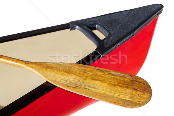 Piros kenu íj fából készült izolált fehér Stock fotó © PixelsAway