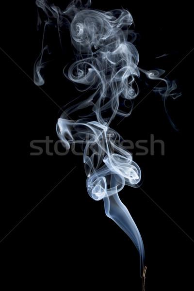 Tütsü duman soyut yanan sopa siyah Stok fotoğraf © PixelsAway