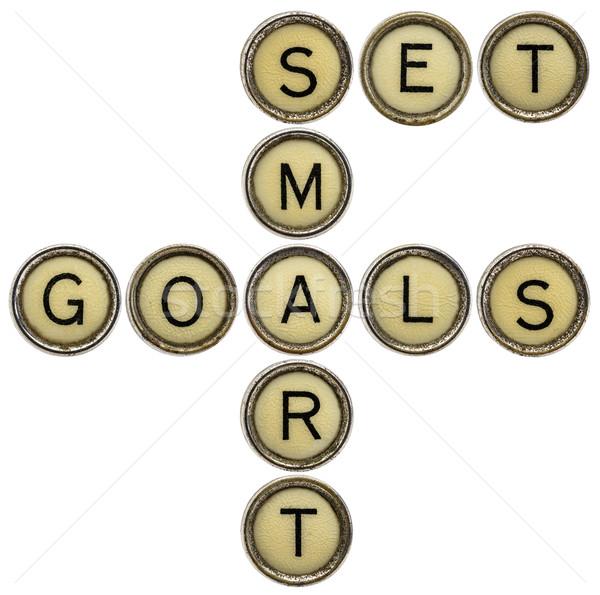 set smart goals in  typewriter keys  Stock photo © PixelsAway