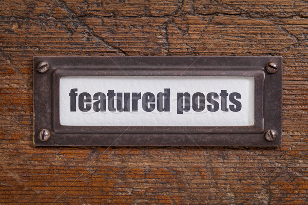 Stock photo: featured posts  label