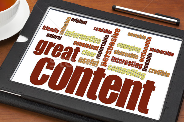 wrting great content concept Stock photo © PixelsAway