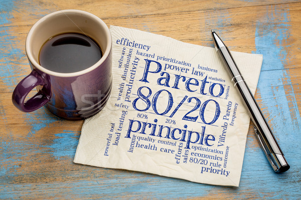 Pareto principle, eighty-twenty rule  Stock photo © PixelsAway