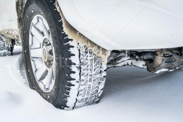 冬 運転 抽象的な クローズアップ 四輪駆動車 suv ストックフォト © PixelsAway