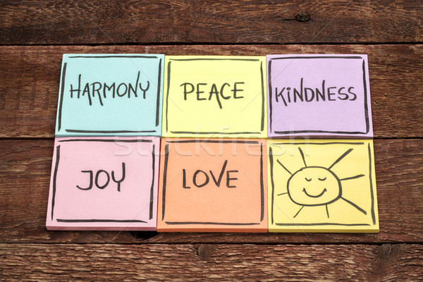harmony, peace, kindness, joy and love Stock photo © PixelsAway