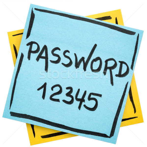 password reminder on sticky note Stock photo © PixelsAway