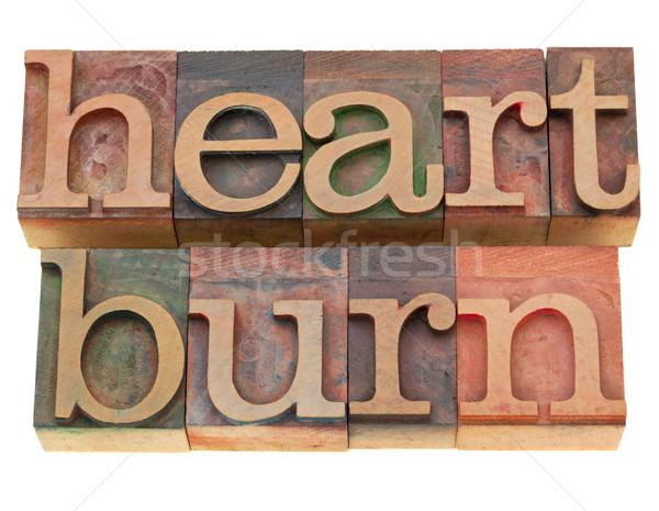Maagzuur woord type geïsoleerd vintage Stockfoto © PixelsAway
