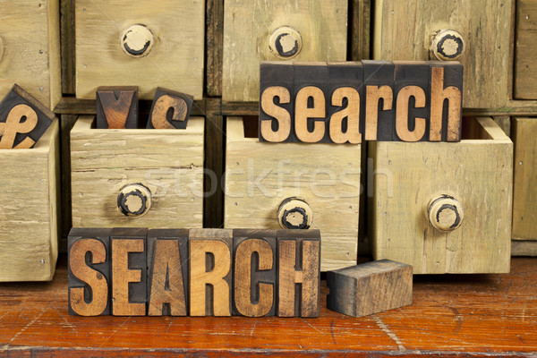 search word concept in wood type Stock photo © PixelsAway