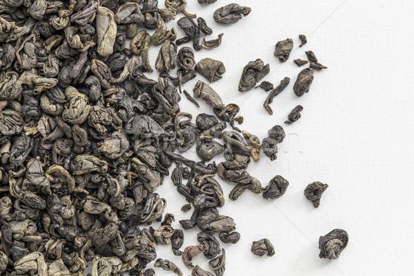 Groene thee textuur los blad chinese buskruit Stockfoto © PixelsAway