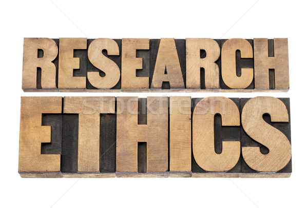 research ethics in wood type Stock photo © PixelsAway