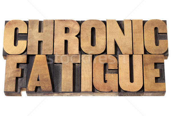 chronic fatigue in wood type Stock photo © PixelsAway