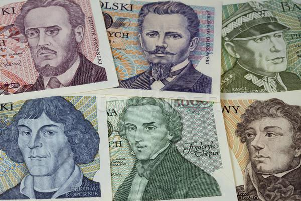 historical portraits on Polish banknotes Stock photo © PixelsAway