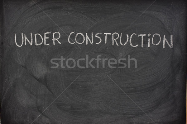 Bouw Blackboard witte krijt Stockfoto © PixelsAway