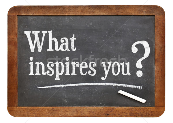what inspires you question Stock photo © PixelsAway