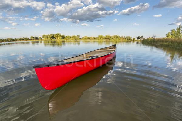 Piros kenu higgadt tó halszem nézőpont Stock fotó © PixelsAway