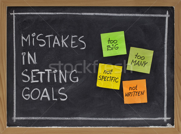 mistakes in setting goals Stock photo © PixelsAway