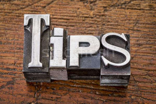 Tips woord metaal type verhaal vintage Stockfoto © PixelsAway