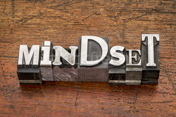 mindset word in metal type Stock photo © PixelsAway