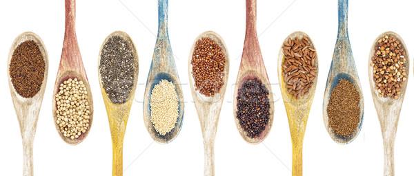 Gluten semillas colección sin gluten aislado Foto stock © PixelsAway